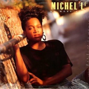 "Michel'le on the cover of her 1989 ""No More Lies"" single"