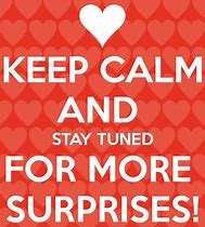 keep calm surprises